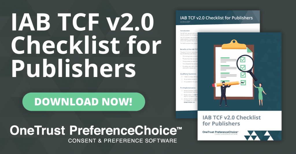 IAB TCF 2.0 Checklist for Publishers